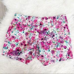 Ann Taylor RARE Rainbow Floral Print Shorts